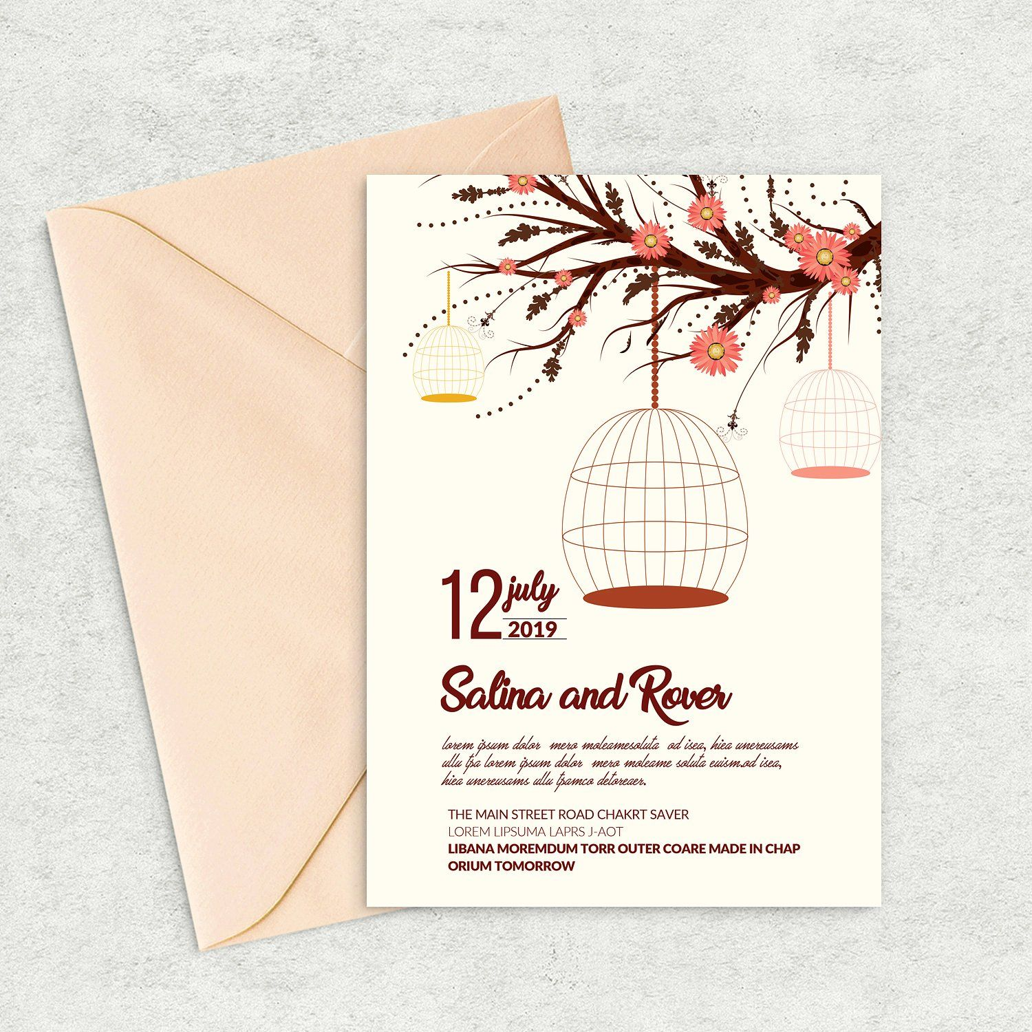 Save The Date Card Invite Template By Design Up On Creativemarket Easy To Customize Fully Layered If Y Save The Date Cards Wedding Invitation Card Template Fun Wedding Invitations