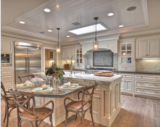 Kitchen Table Island Combo Pulls Decor Ideas Design