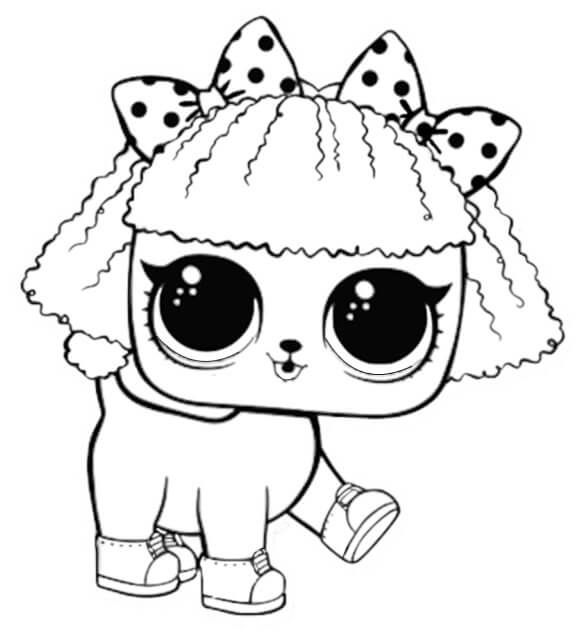 Pupsta Lol Surprise Doll Coloring Page