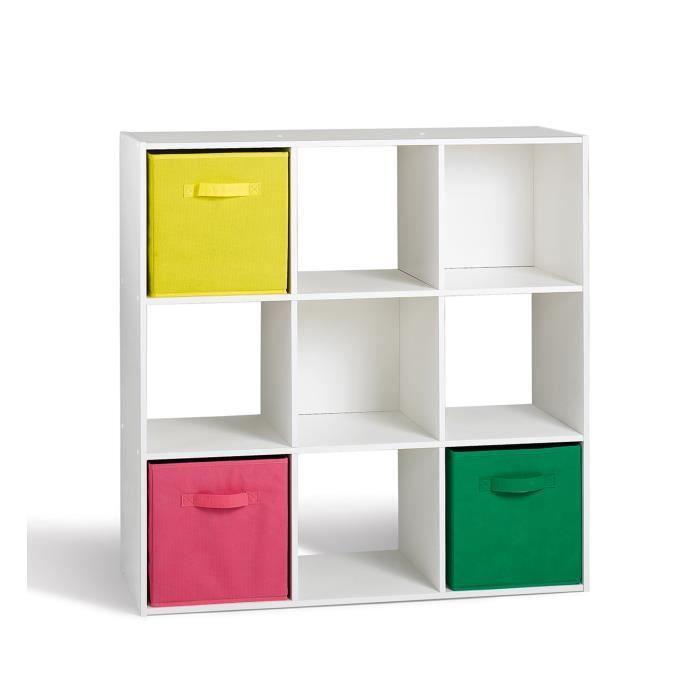Meuble tagre Compo Cube  Cases Blanc  X Cm  Hva Jeg Vil Ha