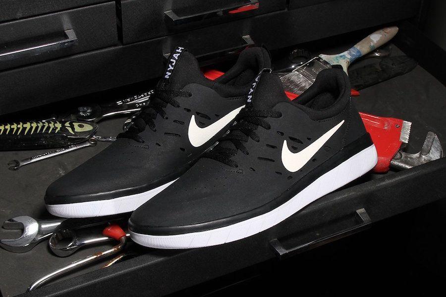 Nike SB Nyjah Free zapatos de skate blancos