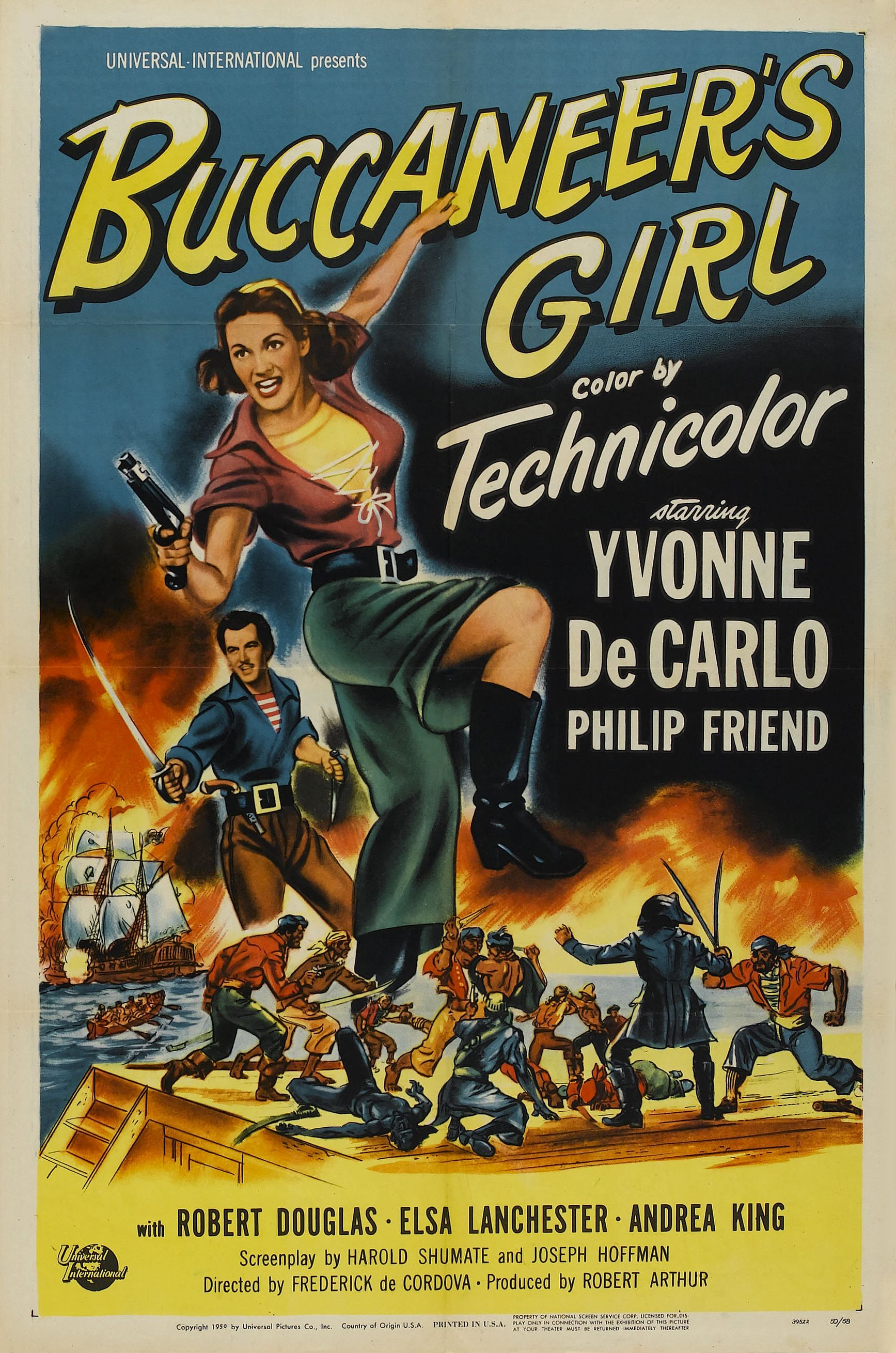 BUCCANEER'S GIRL (1952) Yvonne DeCarlo Directed by