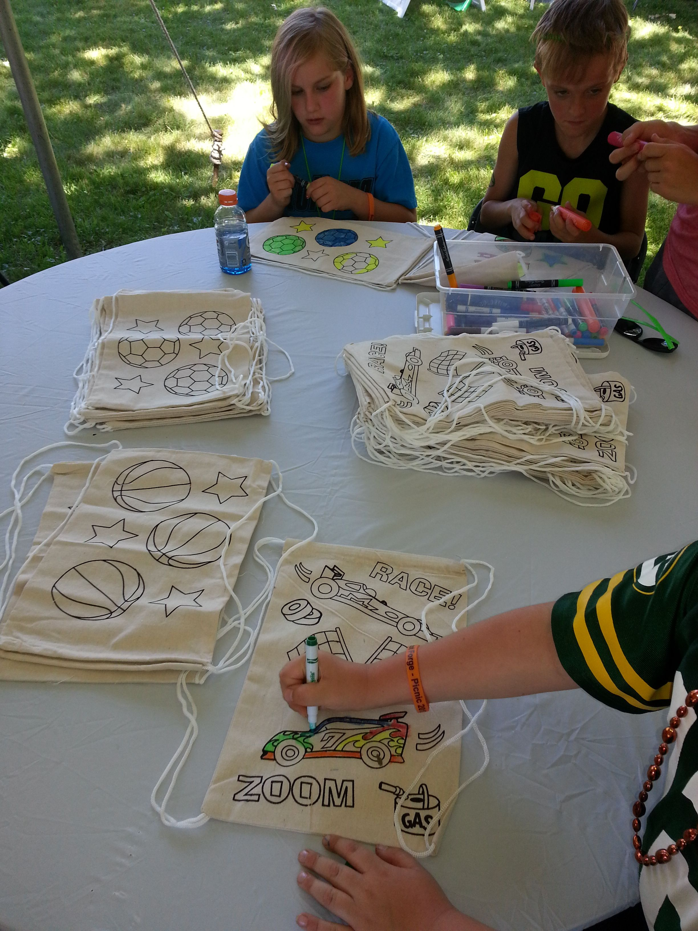 Create your own backpack chicago party rentals crafts