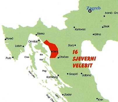 Np Sjeverni Velebit Map National Parks Map National