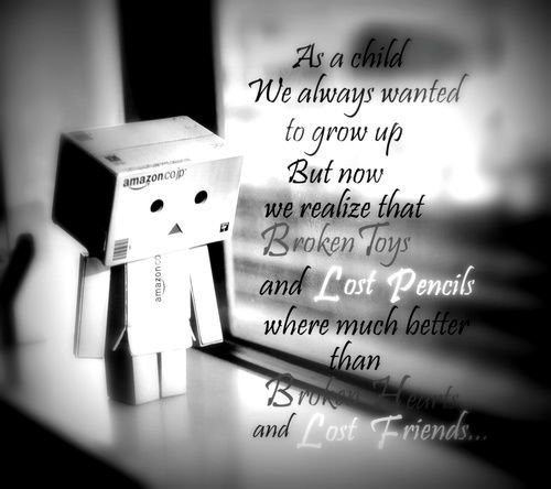 Danbo Sad Quotes Wallpaper Hd