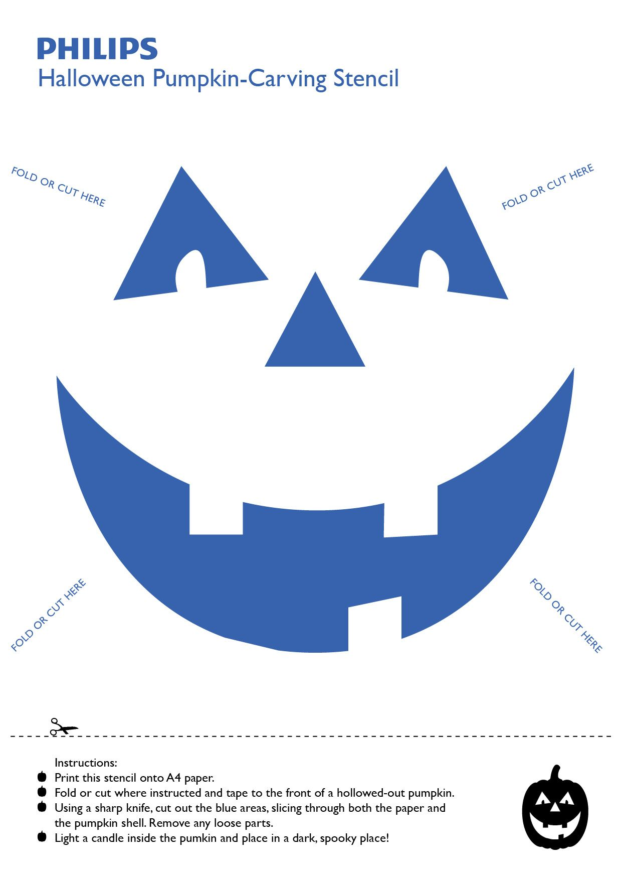 Philips Halloween Pumpkin Carving Stencil