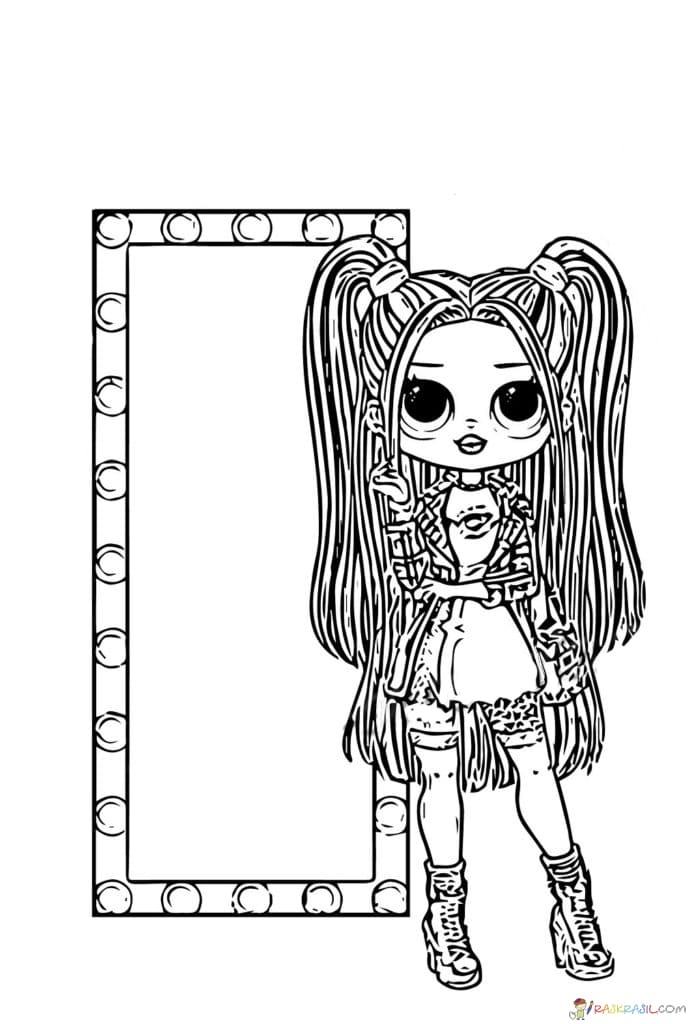 Dibujos Para Colorear Lol Omg Imprime Munecas Populares Gratis Hello Kitty Para Colorear Dibujos Dibujos Kawaii
