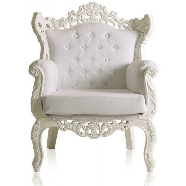 Best Modern Baroque White Living Room Armchairs Found On 400 x 300