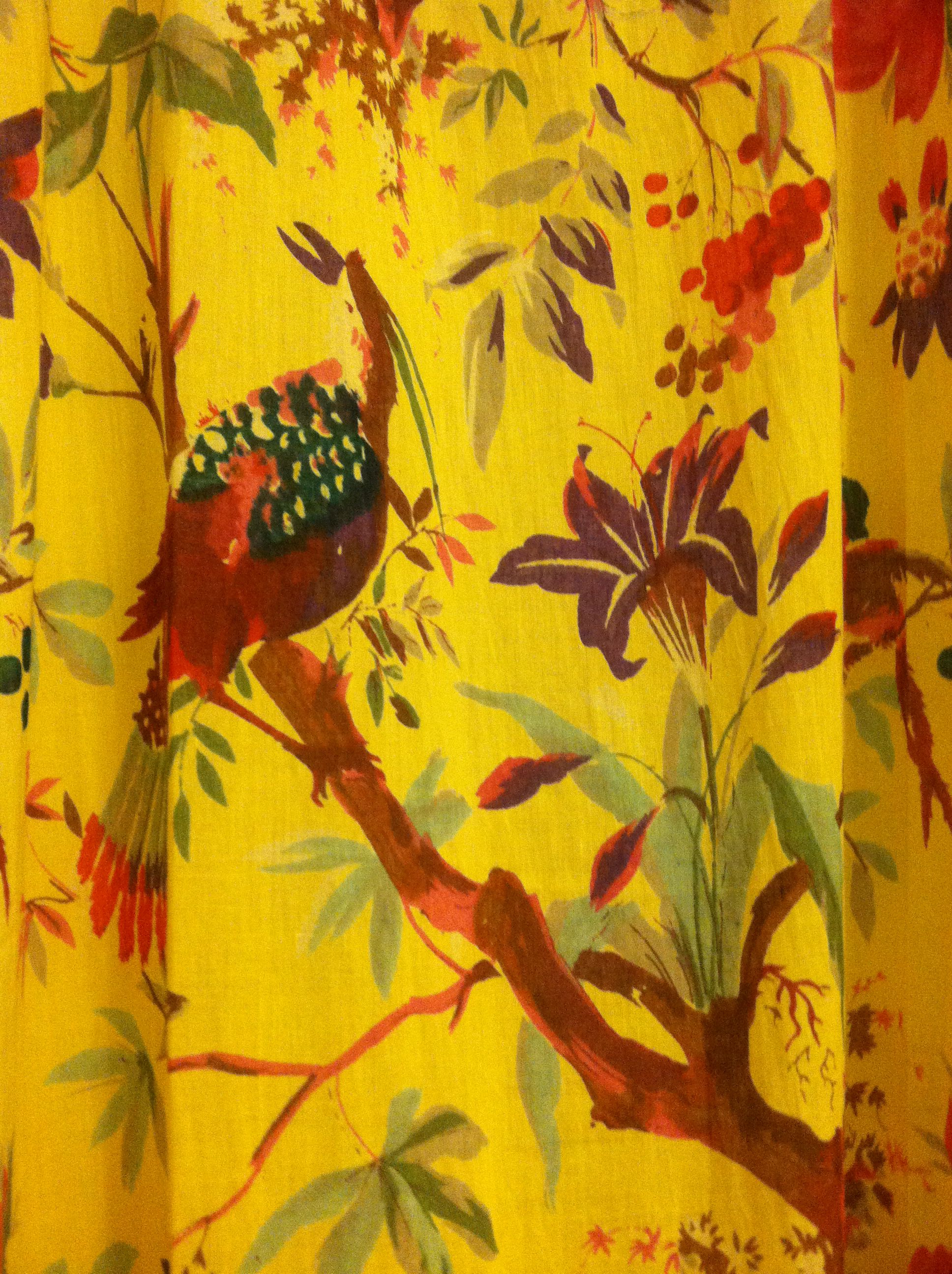 Love these drapes I purchased from Modcloth. Inspiration for my new color scheme. Aqua, red and yellow! (And some black accents)