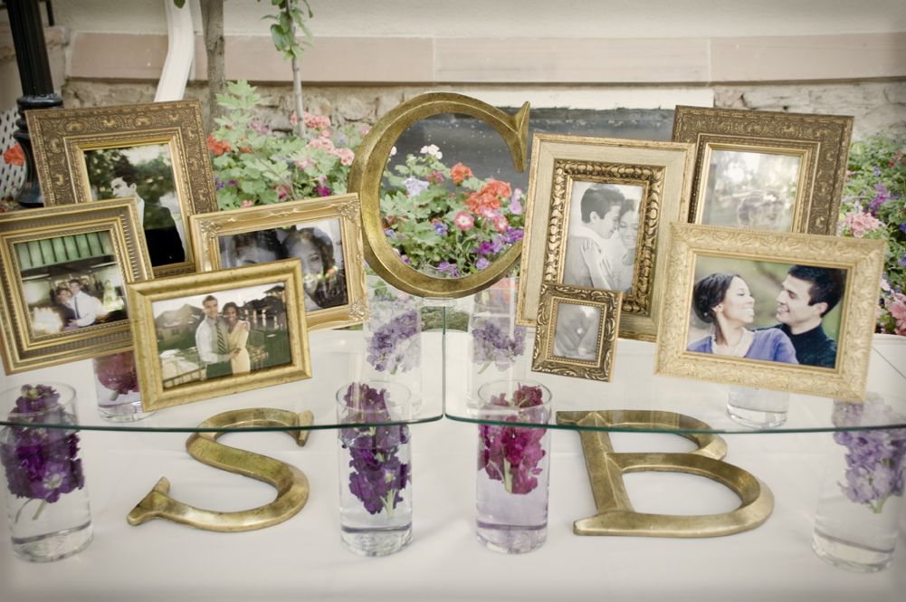 reception decoration, not gold. pics of our parents wedding, gparents...?