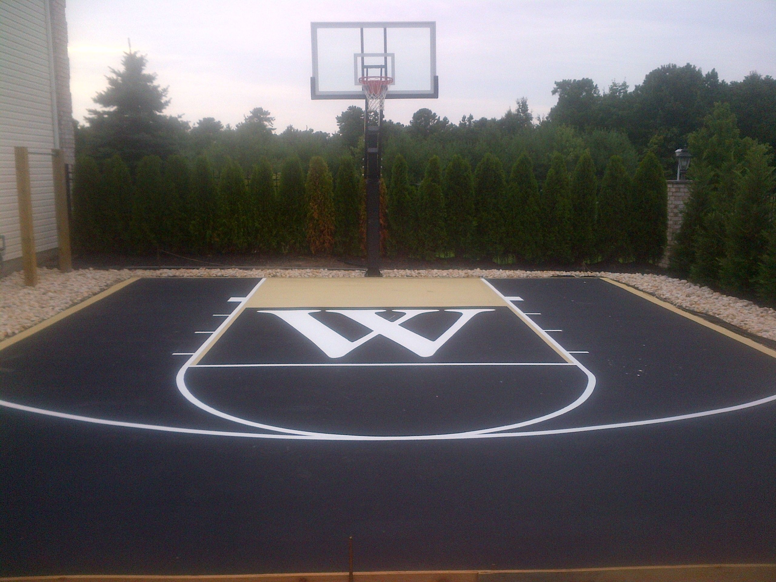 Asphalt And Concrete Can Be Painted With Tennis Court Paint They
