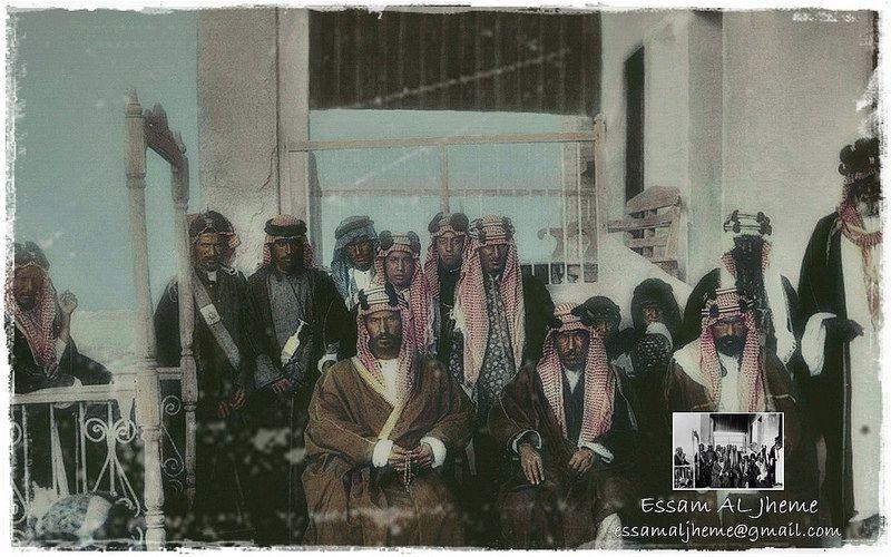 الملك عبد العزيز آل سعود بجانب الشيخ مبارك الصباح الكويت عام 1910 Old Photography Rare Pictures My Images