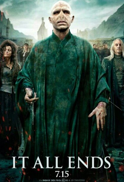 Promotional Poster For Harry Potter And The Deathly Hallows Part 2 Harry Potter Villains Deathly Hallows Part 2 Harry Potter Movies
