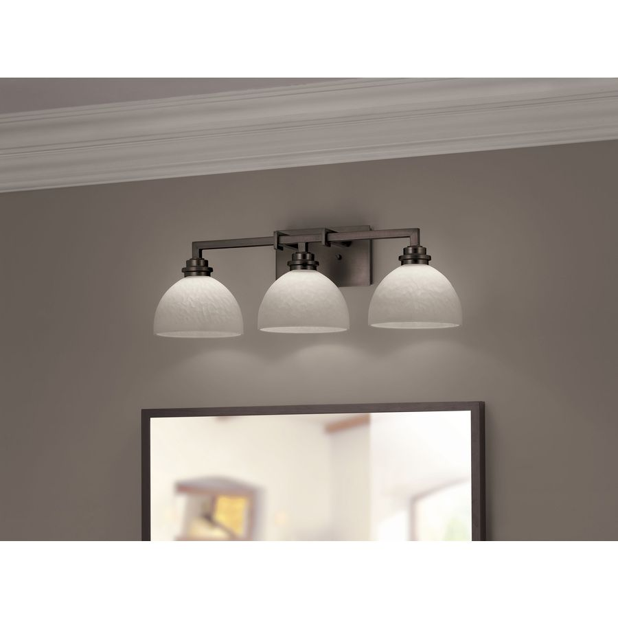 Vanity Lights Lowes Gorgeous Shop Portfolio 3Light Light Oilrubbed Bronze Bathroom Vanity Light Decorating Inspiration