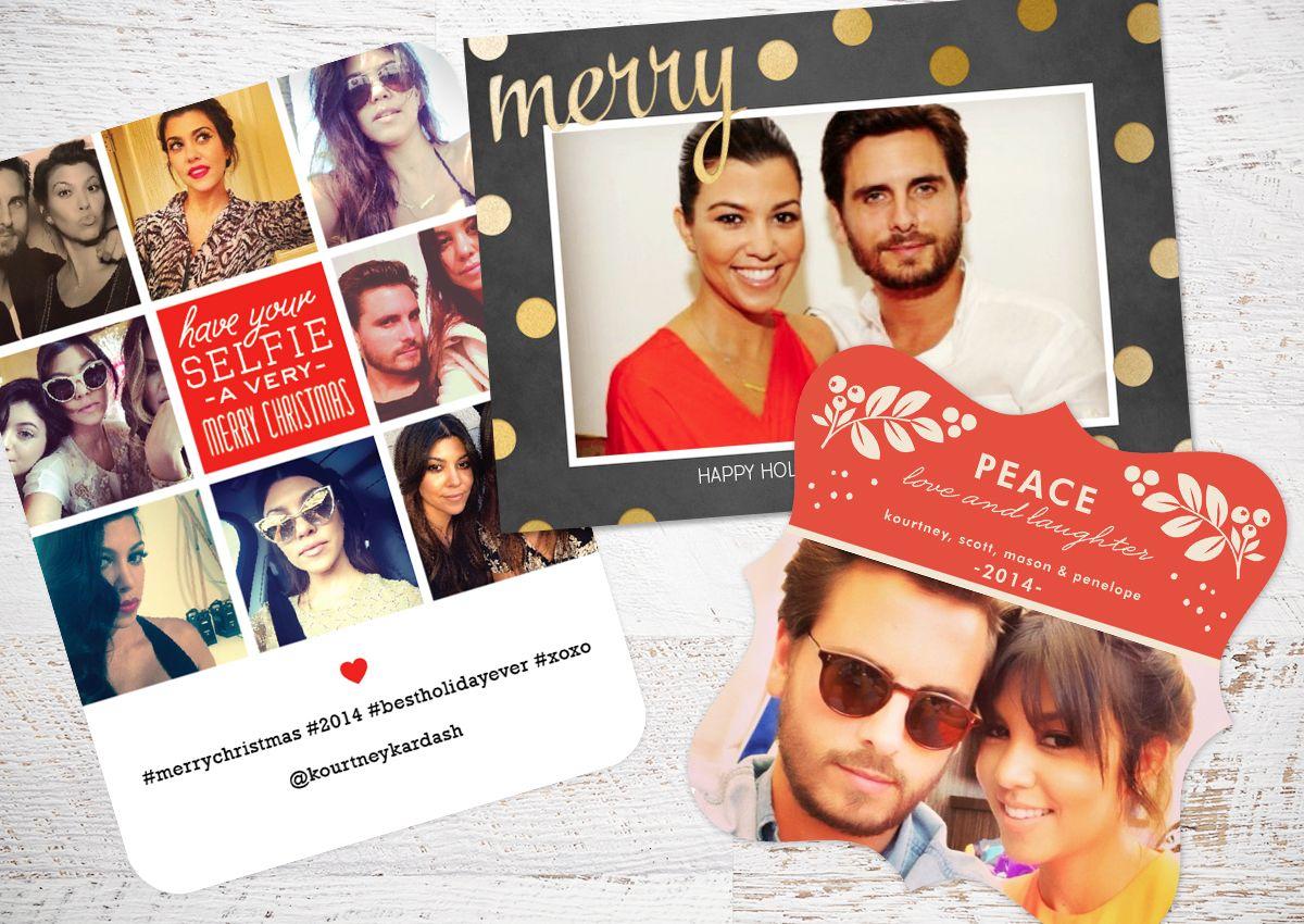 Kourtney Kardashian + Scott Disick Holiday Card | Gold and Silver ...