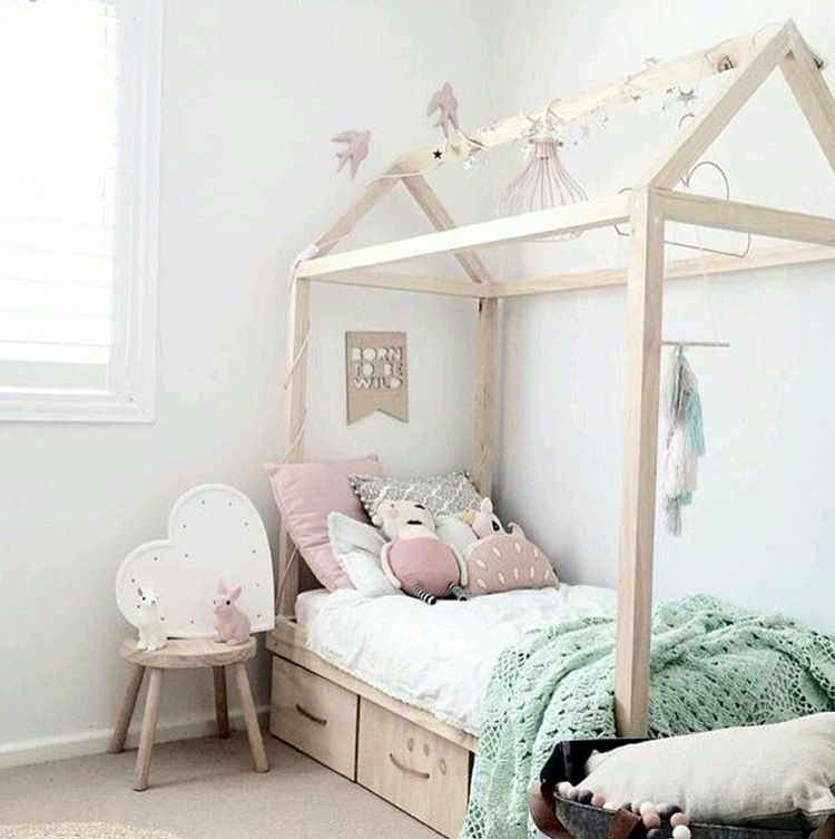 Love this house bed shaped bed and the lovely décor accessories