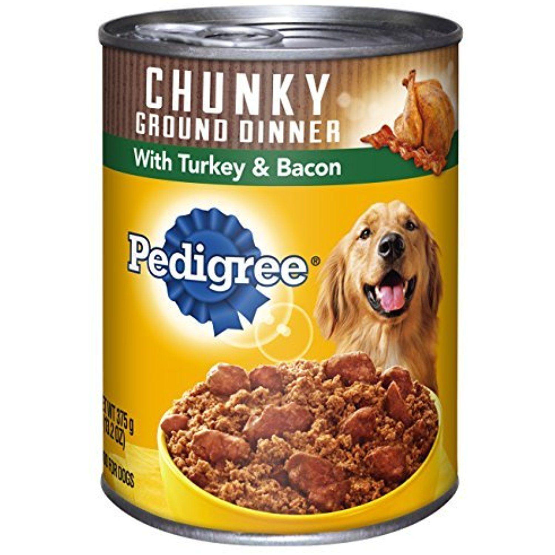 Pedigree meaty ground dinner with chunky turkey bacon
