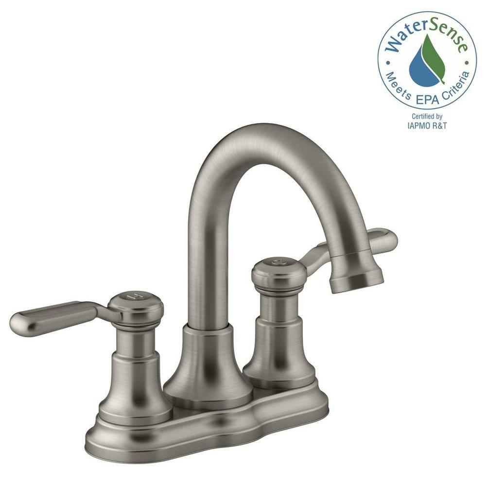 KOHLER Worth 4 in. Centerset 2-Handle Bathroom Faucet in Vibrant ...