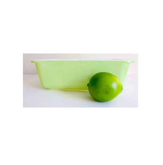Vintage Pyrex Lime Green Loaf Bread Pan by CafeChaCha, $14.00