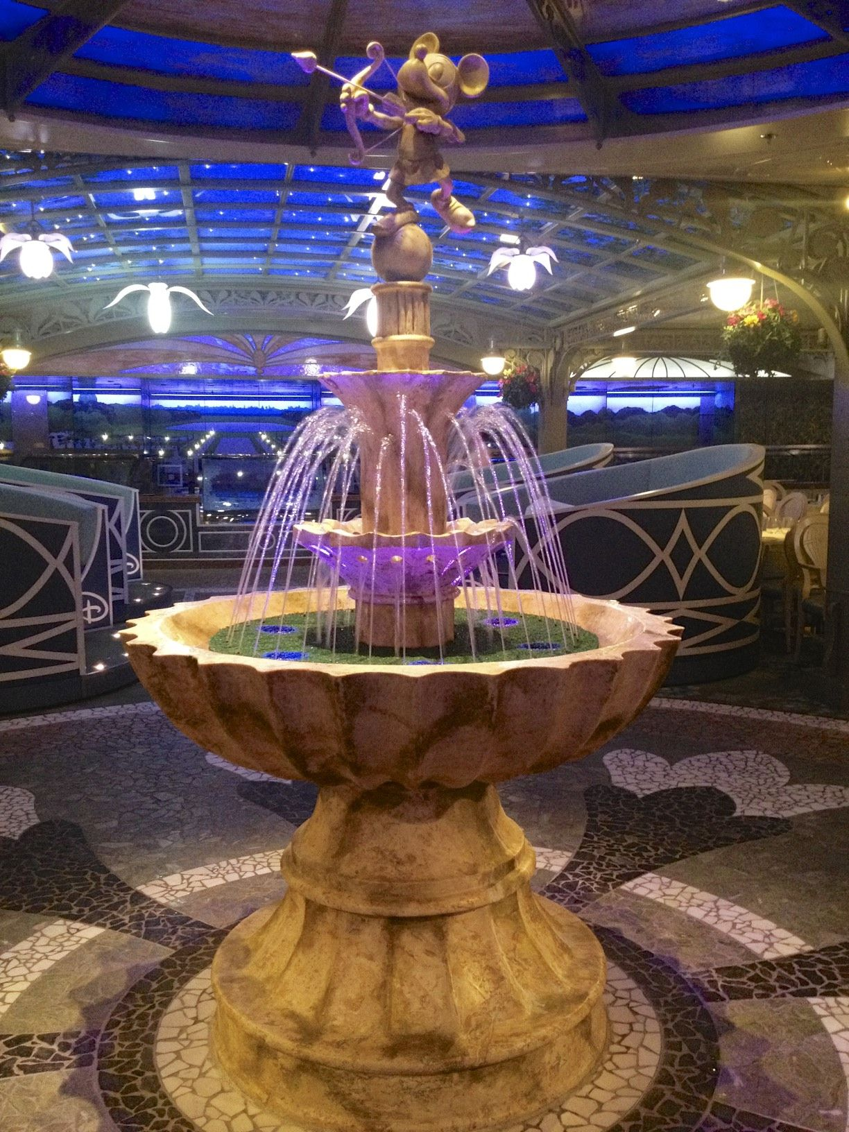 Enchanted Garden restaurant aboard the Disney Dream cruise