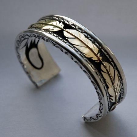 Ninjichaak Biinjima Native American Inspired Clamp On Bracelet