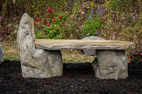 Prime Garden Bench Basalt Stone Boulder Bench With Back Cast Frankydiablos Diy Chair Ideas Frankydiabloscom