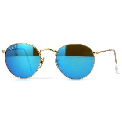 ray ban lente espelhada azul