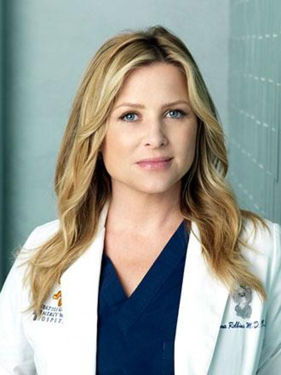 jessica capshaw. goofy picture. great hair color