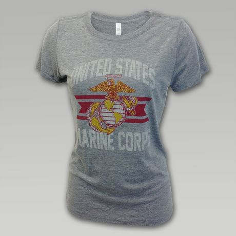 07b59153c Marine Corps Women's Throw Back T-Shirt | ArmedForcesGear.com | Armed  Forces Gear