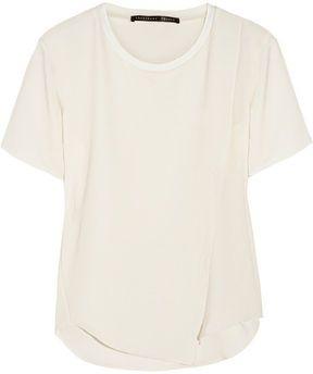 Theyskens Theory Feho draped silk T-shirt