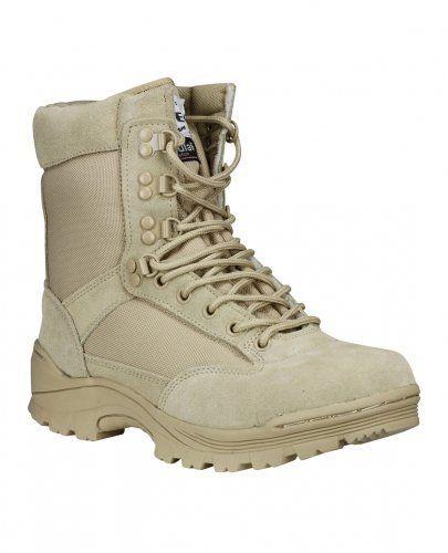 Mil-Tec - Botas de cuero para hombre beige Coyote, color beige, talla 44 (11)