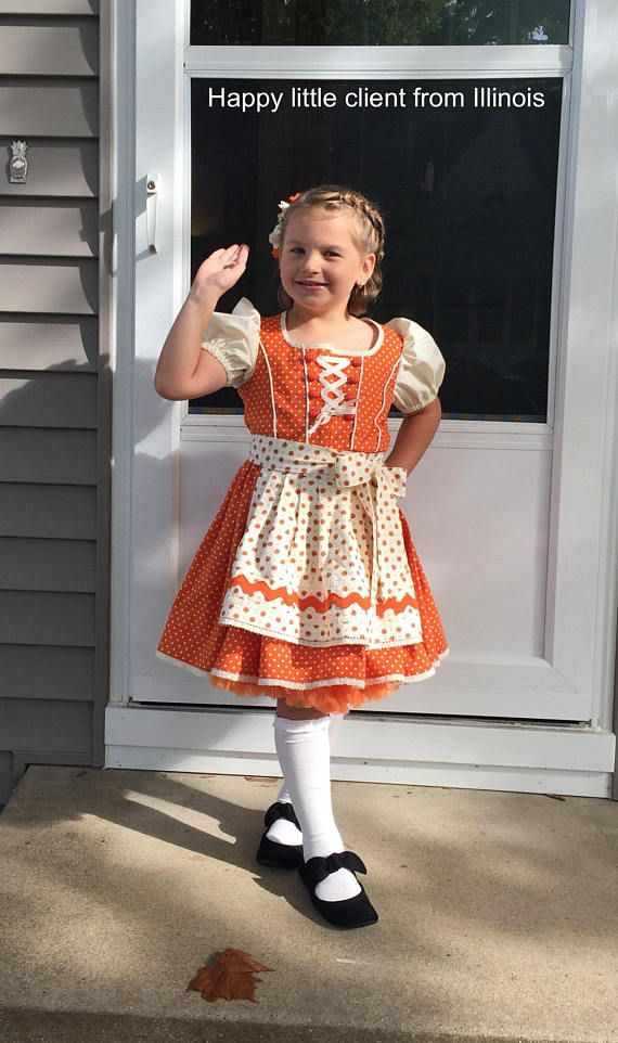 94974097187a Dirndl dress pattern Size 7-16 yr dirndl dress and apron Oktoberfest costume  pattern Bavarian peasan