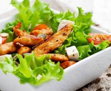 Ensalada de Verduras y Pollo con Aderezo Balsámico   WikiChef