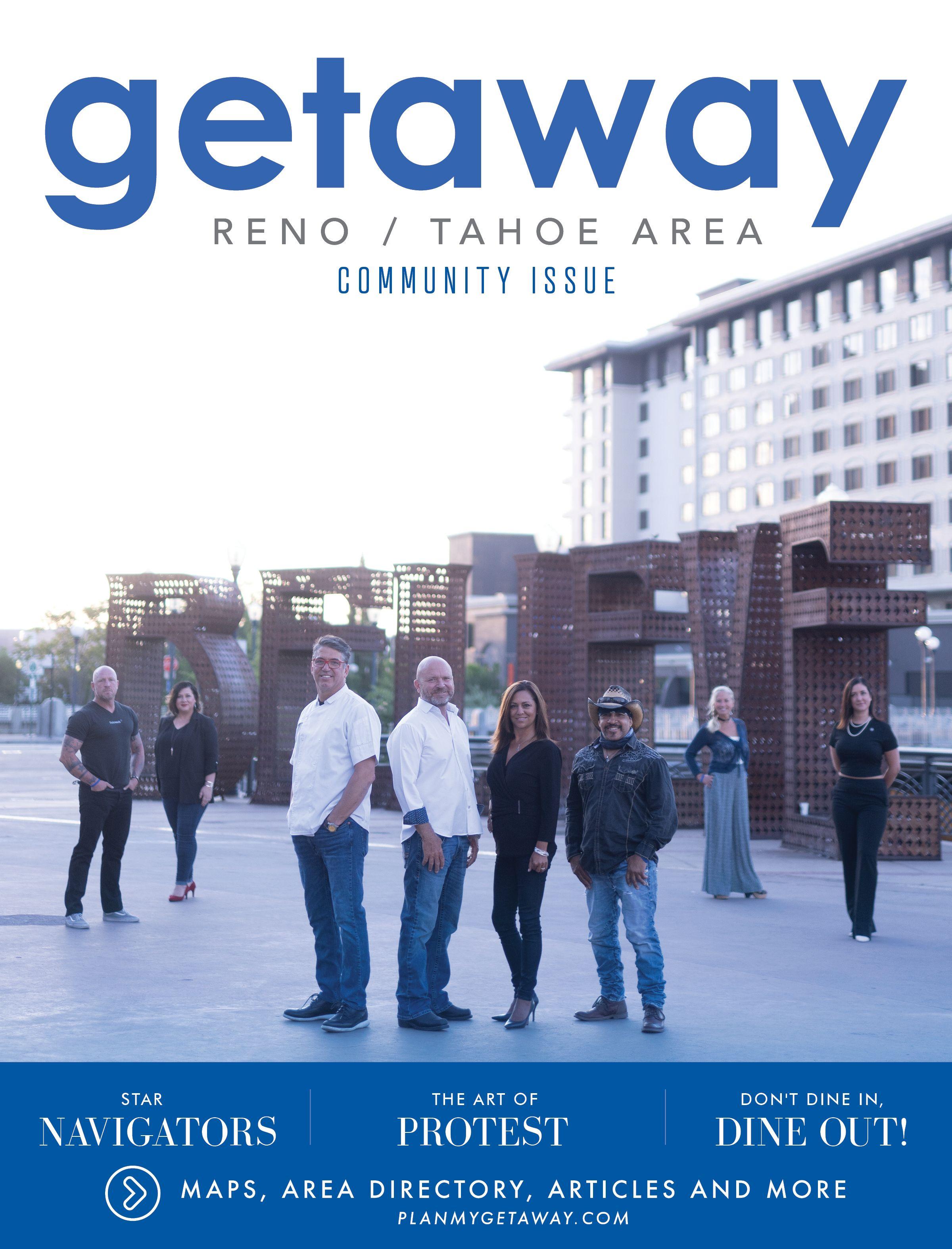 Getaway Reno Tahoe Summer Fall2020 Magazine Cover Reno Tahoe Tahoe Getaways