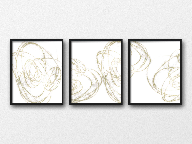 Neutral Wall Art Set Abstract Wall Art Set Of 3 Prints