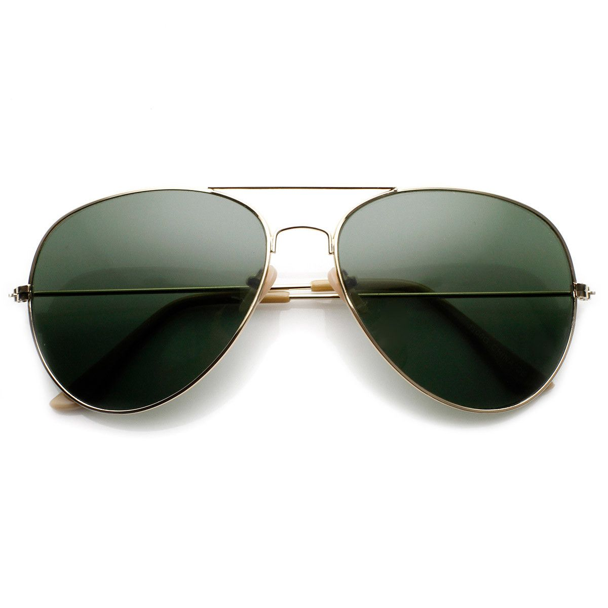 Classic Metal Teardrop Glass Lens Aviator Sunglasses
