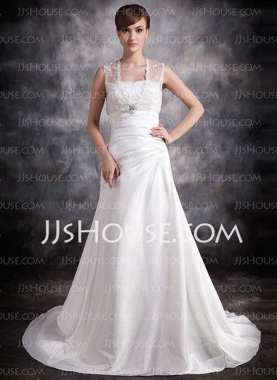 Wedding Dresses - $138.99 - A-Line/Princess Sweetheart Court Train Taffeta Wedding Dress With Ruffle Beadwork (002011420) http://jjshouse.com/A-Line-Princess-Sweetheart-Court-Train-Taffeta-Wedding-Dress-With-Ruffle-Beadwork-002011420-g11420