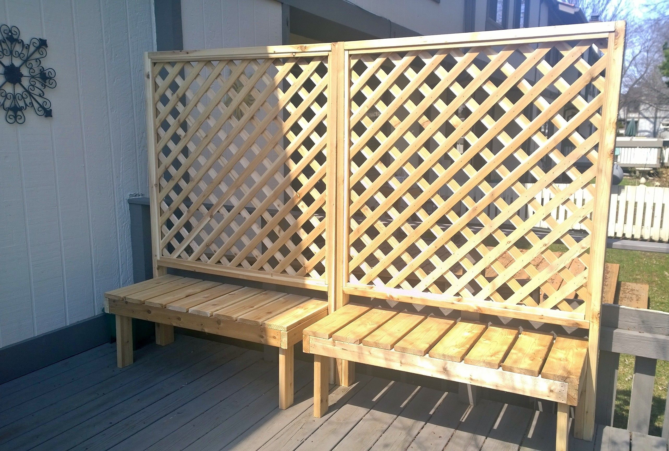 Trellis / Privacy benches for our townhouse deck | Gardens & Food ...
