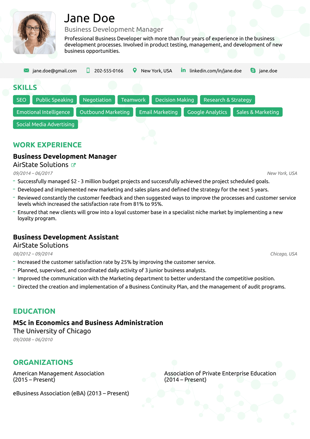 Black Modern Resume Template in 2020 Modern resume