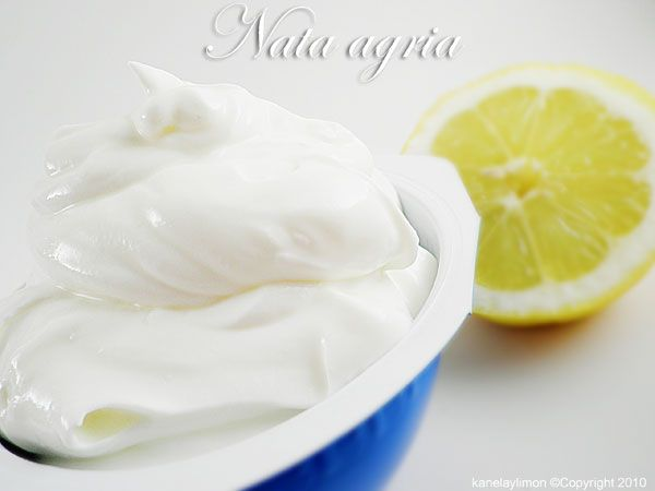 Como hacer nata agria cocinar pinterest - Como hacer nata para cocinar ...