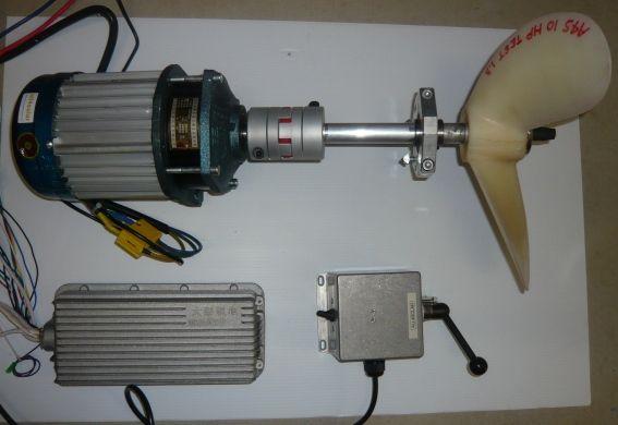 2 KW / 4 HP high torque electric inboard motor - Click Image