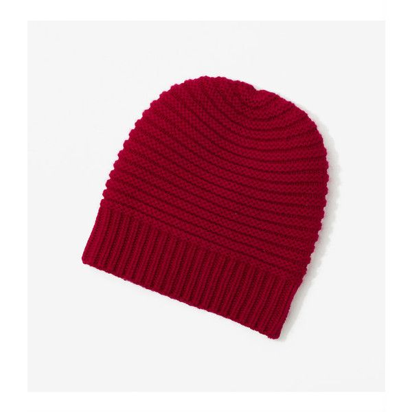 LOFT Lou & Grey Wool & Cashmere Beanie ($30) ❤ liked on Polyvore featuring accessories, hats, holiday cranberry, cocktail hat, beanie cap hat, beanie cap, holiday hats and beanie hats