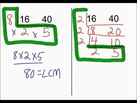 Finding The Lcm Using The Ladder Method