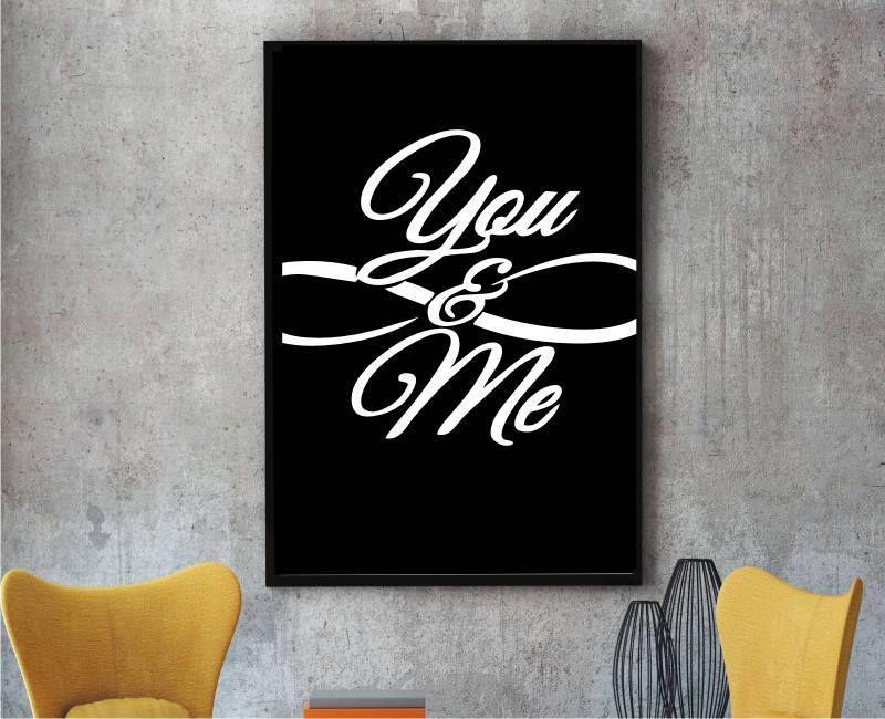 Plakat ty i ja poster you and me love nieskończoność