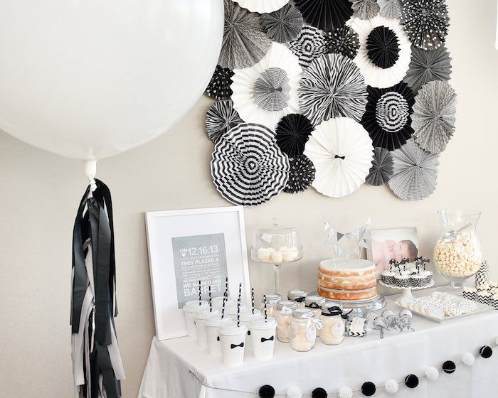 Black White Bow Tie Themed Birthday Party Black And White