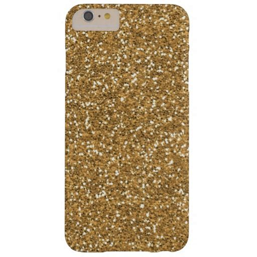 Gold Glam Faux Glitter Barely There iPhone 6 Plus Case
