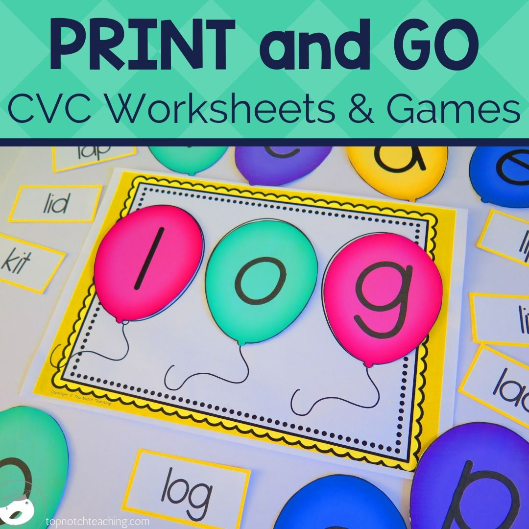 Cvc Words Worksheets And Games Ultimate Bundle