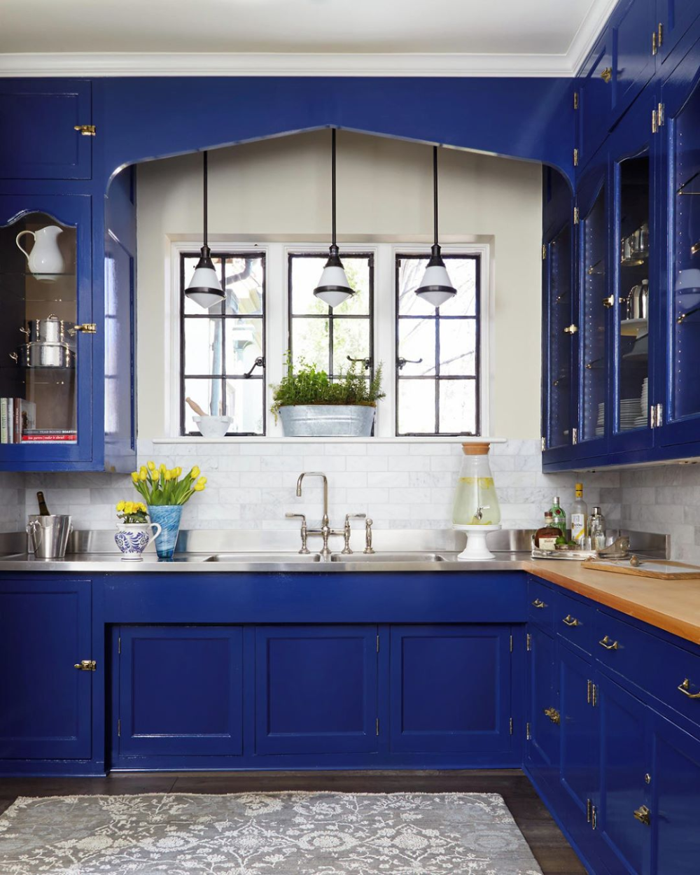 Instagram In 2020 Blue Kitchen Cabinets Blue Kitchens Kitchen Design