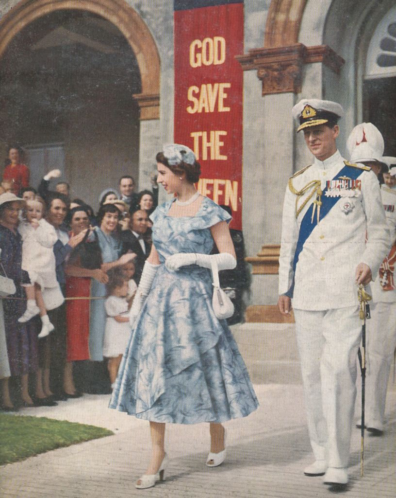 Queen Elizabeth the Duke of Edinburgh and Princess Margaret 1953 Poster