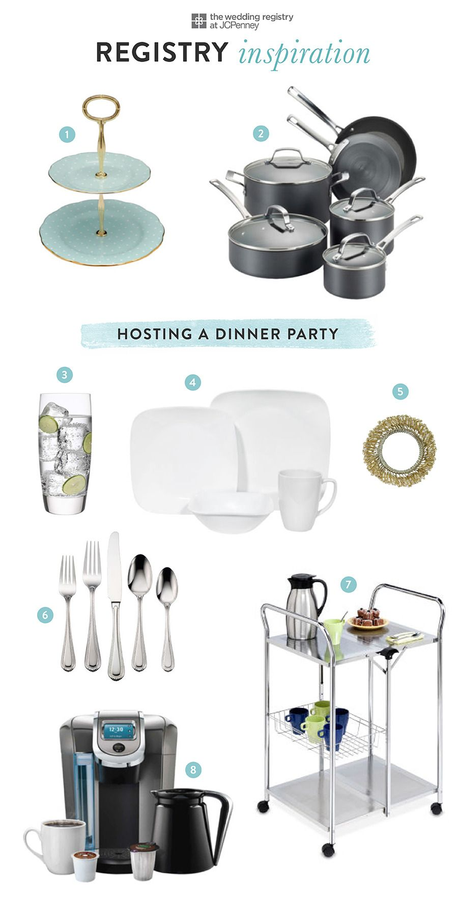 Your First Dinner Party With Jcpenney Registry Casa Mveis E